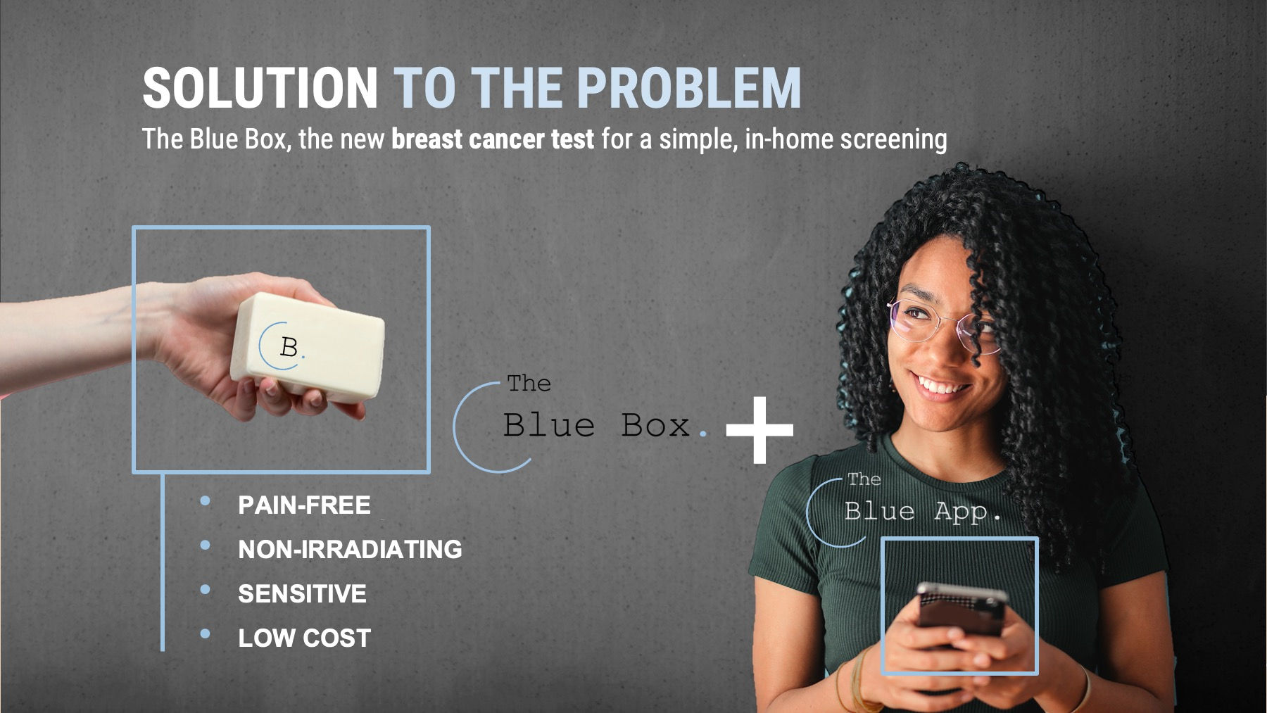 An image with a caption of: The Blue Box and The Blue App will guide the end-customer towards a simple and stress-free test